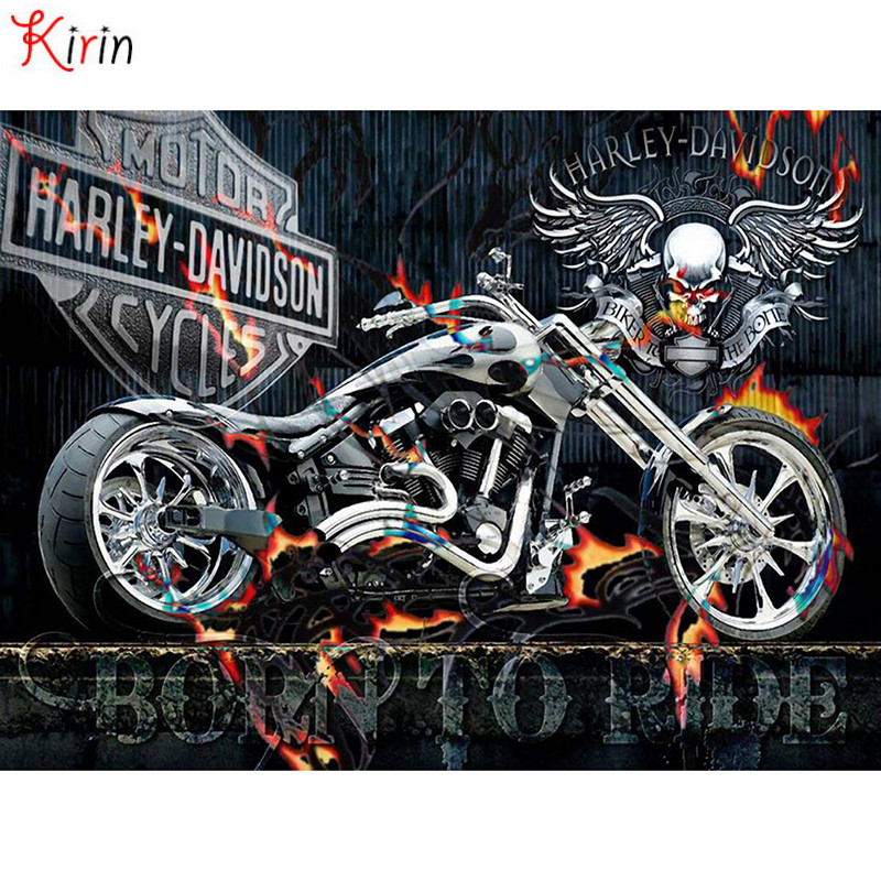 Cheap for all in-house products diamond painting motorcycle in FULL HOME