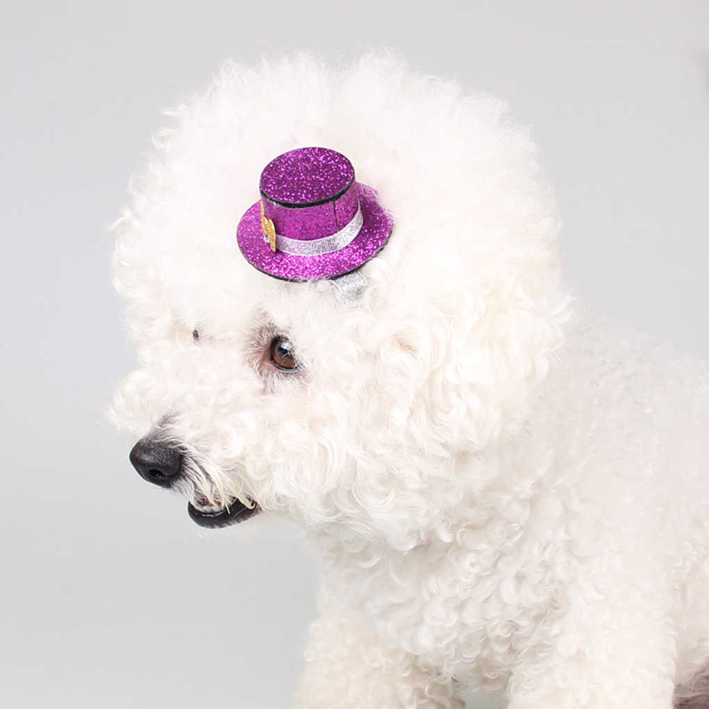 Маленькая шляпа заколки для волос Принцесса заколка для груминга для домашних животных собака кошка дети