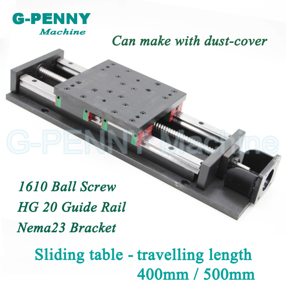 High Precision sliding table traveling length 400/500mm Chinese HG20 Linear Guide Rail linear motion Ball Screw 1610 for Z axis цена 2017
