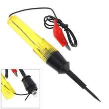 Universal 6V-24V tamaño medio probador de circuitos de tensión coche prueba VoltMet sonda bolígrafo bombilla de luz del automóvil herramientas de mantenimiento