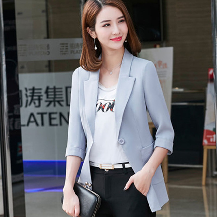 Autumn Spring Casual Women Jacket Blazer Plus Size Office Suits Ladies Mujer Blazer Feminino Female Jackets Chaquetas 50N0491