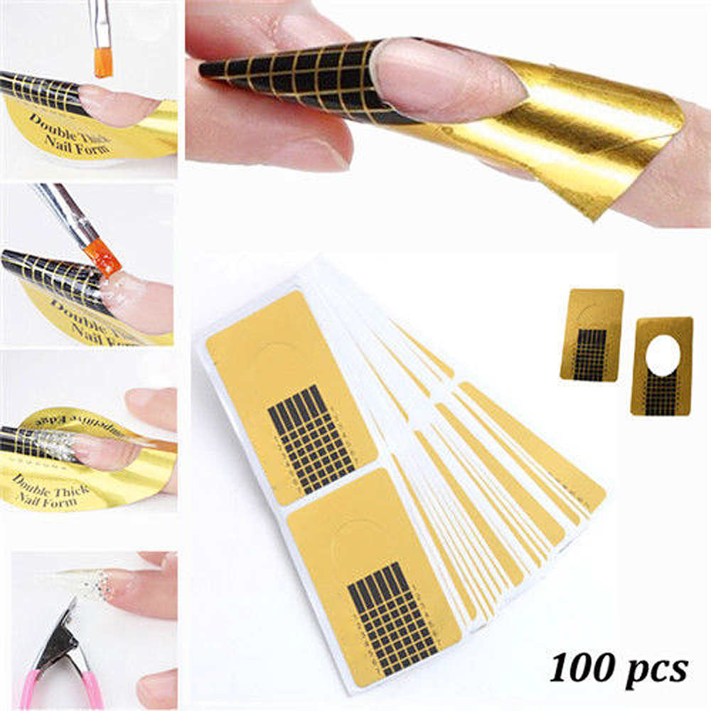 Aliexpress.com : Buy 100 Pcs Nail Form Tips Nail Art Guide Form ...