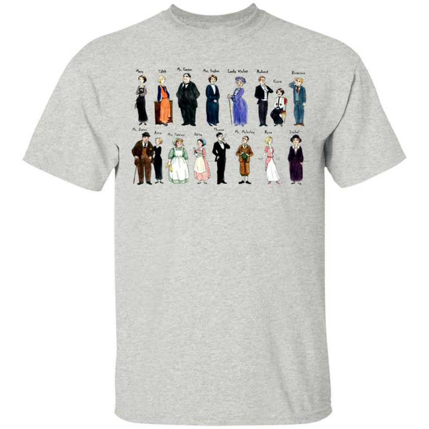 Downton Abbey Characters T Shirt White Cotton Ladies S-3XL US Supplier