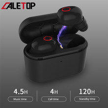 Caletop TWS Wireless Bluetooth 5.0 Earphones CVC Noise Cancelling In Ear Headset With Charging Case HIFI Stereo Music Earbuds new xduoo ep1 stereo in ear earphone dynamic driver headset noise cancelling headphone hifi subwoofer music mobile earphones