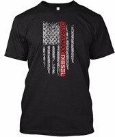 2017 Spring Summer Short Sleeve T Shirts Duramax Diesel America Flag Plus Size Fashion Brand Clothing