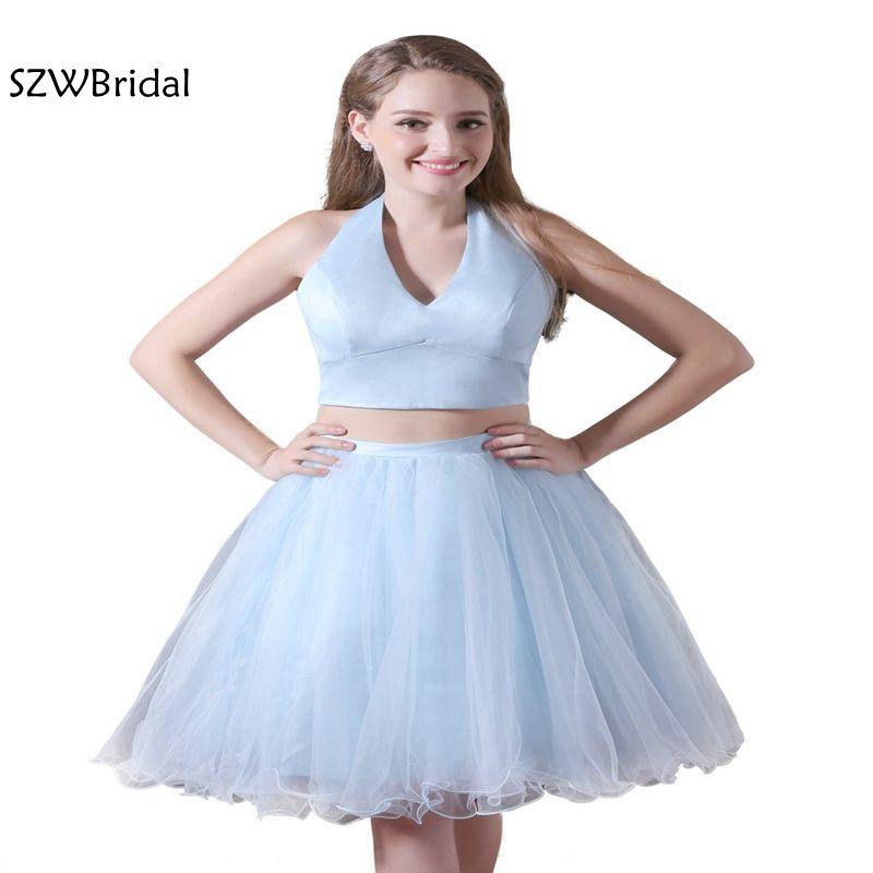 Fashion V-Neck A-Line None   Cocktail     dresses   2019 Plus size party   dress   Vestido de festa curto