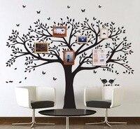 Büyük Aile Ağacı Duvar Çıkartması Peel Çubuk Kolay Uygulanır dekor Duvar Ev Yatak Odası için Şablon Dekorasyon DIY Fotoğraf Galerisi çerçeve