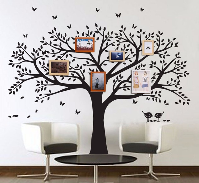 Pochoir Arbre Mural Large Family Tree Wall Decal Peel Stick Easy To Apply