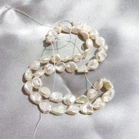 Lii Ji Baroque Irregular Shape Pearl Loose Beads 39cm 10 Pcs