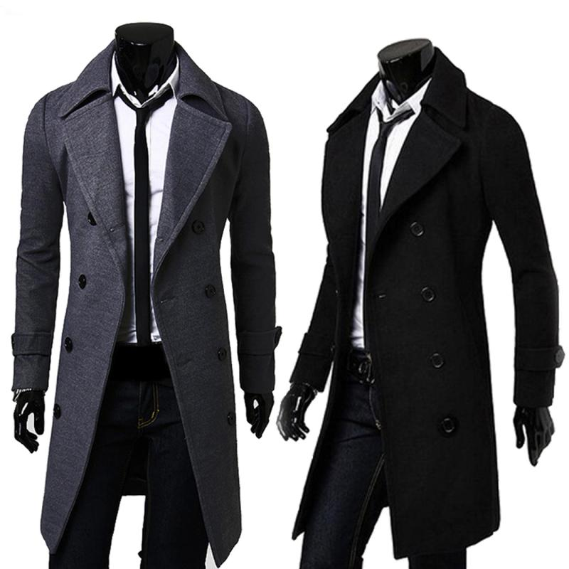 Online Get Cheap Double Breasted Trench Coat Men -Aliexpress.com ...