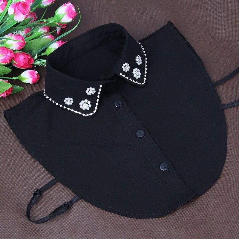 Elegant Removable Beaded Collar Pearls Small Women Accessories Fake Collar Fauxl Col Chemisier Cotton Kraagie Female New Fashion