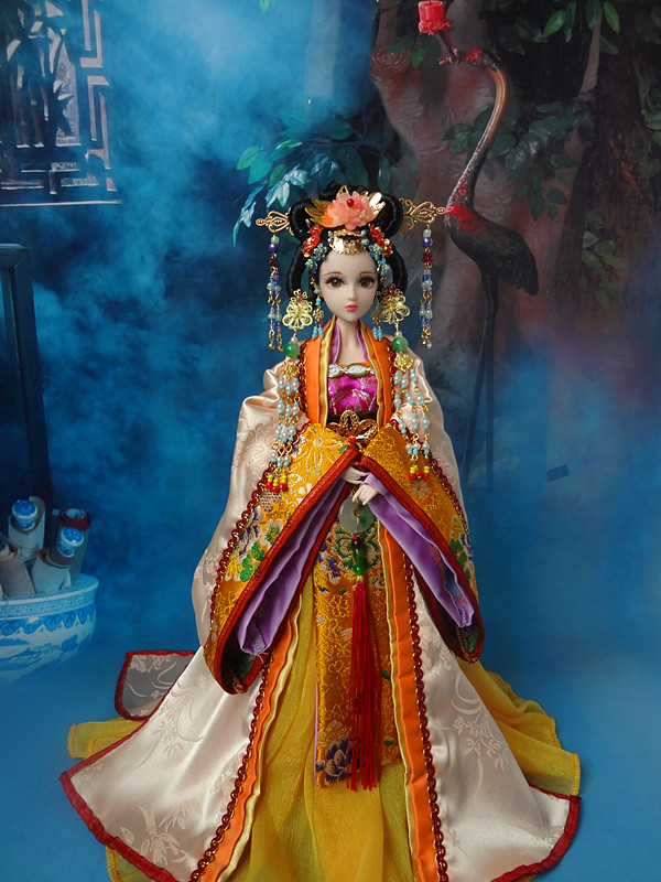 Ancient Chinese Princess Gaoyang Dolls Vintage Tang Dynasty Girl Dolls With Flexible 12 Joints Body/3D Realistic Eyes Gifts