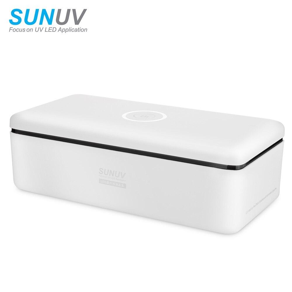 SUNUV UV Sterilizer Box Beauty Tools Sterilizer Storage Box S2 Portable Disinfection Box Machine for Salon Nail Art Tools цены
