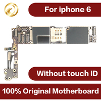 100% Original motherboard for iphone 6 4.7inch 16GB unlocked worldwide Mainboard for iphone6 IOS system NO touch ID Mobile phone