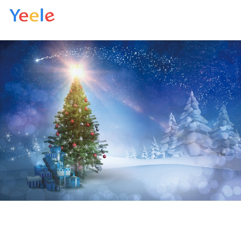 Yeele Christmas Family Party Decor Tree Glitter Photography Backdrops Personalized Photographic Backgrounds For Photo Studio in Background from Consumer Electronics
