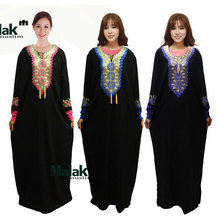 2018 Real Djellaba Abaya Turkish Caftan Muslim Dress New Fashion Arabic Women Robe Hui Clothing Set