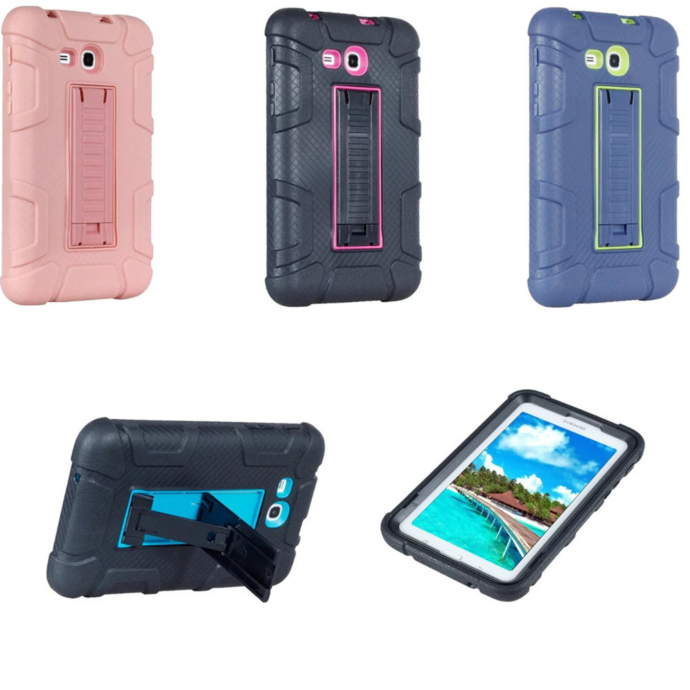 sports shoes 95e7d b77fc Case For Samsung Galaxy Tab 3 Lite/Tab E Lite 7.0 SM-T110 T111 T113 T116  Tablet Kids Stand Hybrid Heavy Duty Shockproof Cover