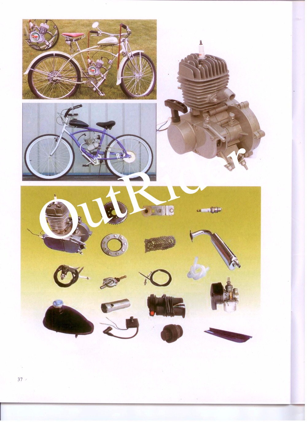 FreeShipping!80cc 2 Stroke Cycle Bike Bicycle Motorized Engine Kit For Motor Gas Silver 2 Years Manufacture Warranty
