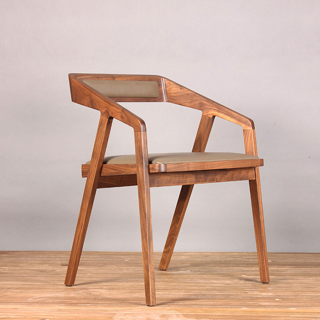 Simple and modern wood chair coffee chair lounge chair ...