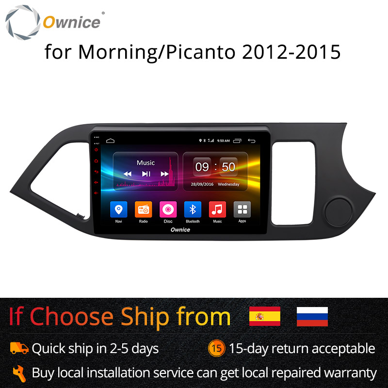 Ownice K1 K2 Android 8.1 8 Core ROM 32G Voiture lecteur dvd gps Navi Stéréo pour KIA PICANTO MATIN 2012 2013 2014 2015 radio