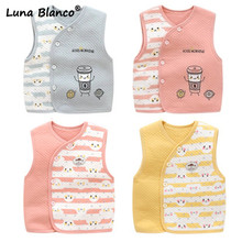 Baby winter vest baby Waistcoats fur vest fall kids newborn baby girl clothes winter baby coat kids ropa invierno bebe nina cheap Outerwear Coats 3-18m Unisex cotton Fits true to size take your normal size V-Neck Luna Blanco Geometric Neutral male or female