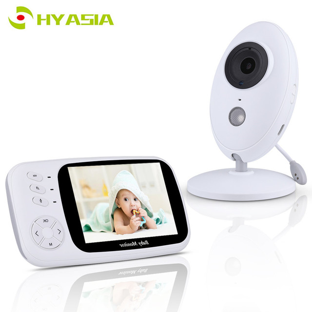 HYASIA 3.5 Draadloze Video Babyfoon Baby Telefoon Camera Bebe Nanny Beveiliging Temperatuur Monitoring LCD Nachtzicht Kindje Camera