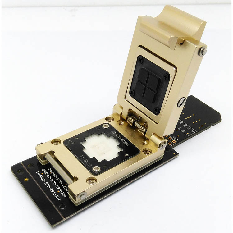 EMMC Test Socket To SD Interface Nand Flash Pogo Pin BGA153/169 Reader Pitch 0.5mm Smart Phone Date Recovery