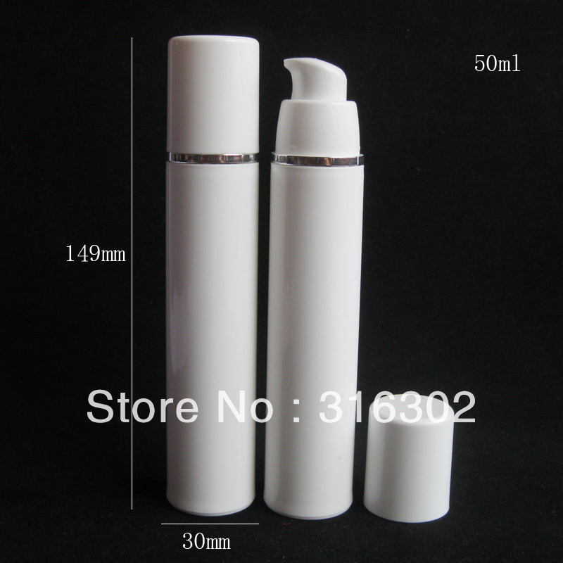 20 X 50ml Empty White Airless Lotion Pump Cream Bottle For