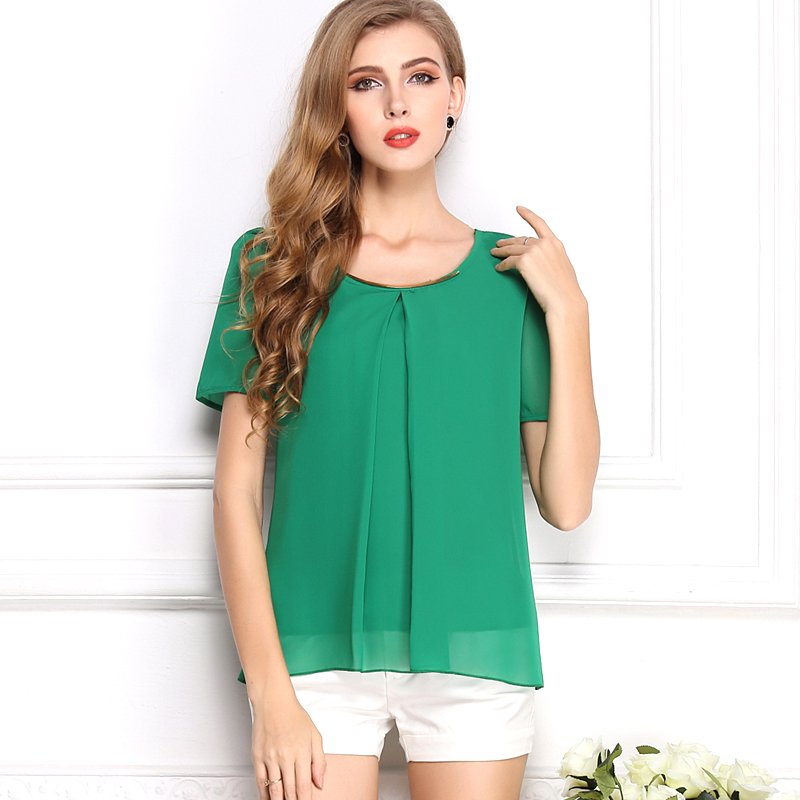 2016 Hot Fashion font b Women s b font Chiffon Tops Long Sleeve font b Shirt