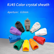 100pcs Network Cat5e Cat6 Ethernet Cable Plug Protective Cover Cap Mixed Color Networking RJ45 Strain Relief Boots