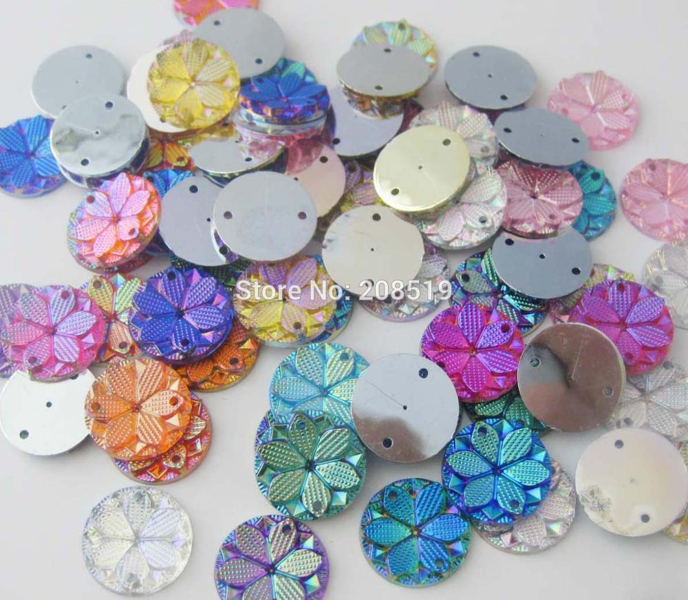 NBNLSS 15MM AB color plastic buttons for garment 150pcs/lot decorative dress button costume sewing supplies
