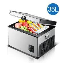Mini geladeira portátil para carro, geladeira portátil para automóveis de acampamento, 35l 12v