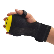 2in1 Finger Device Training Equipment Finger Wrist Hand Orthosis With Ball Stroke Hemiplegia Rehabilitation health Assist grasp anti spasticity ball fingers apart hand far infrared impairment finger orthosis vibration massage rehabilitation exercise