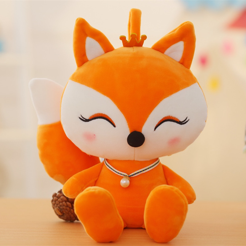 20cm Cute Fox Plush Toy Baby Stuffed Animal Doll Children Gift Lovely Cartoon Fo Toys Small In Animals From Hobbies On