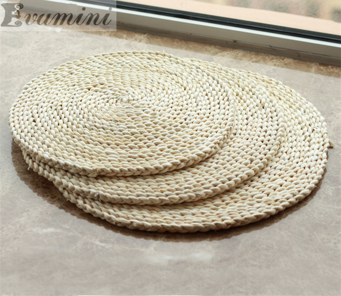 50*50cm Tatami futon meditation cushion thickening yoga circle corn husk straw braid mat japanese style