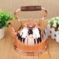 Xinjiang hotel características artesanais bronze bule de chá jogo de chá Restaurante Halal pode ser preenchido com água para o cobre