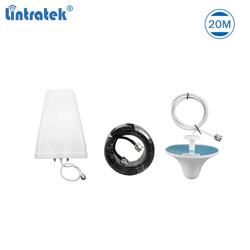 Antenna Set For Signal Boosters 10dBi LPDA Outdoor Antenna 3dBi Ceiling Indoor Antenna Plus 20 Meters Cable For 2g 3g 4g #7.8