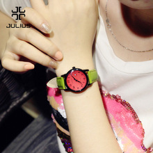 Woman Real Leather Strap Quartz Watch (4 colors)