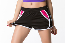 100% Polyester Summer Lady Slim Shorts Quick-Drying Fitness Comprehensive Training High Waisted  Bodybuilding Yoga Shorts