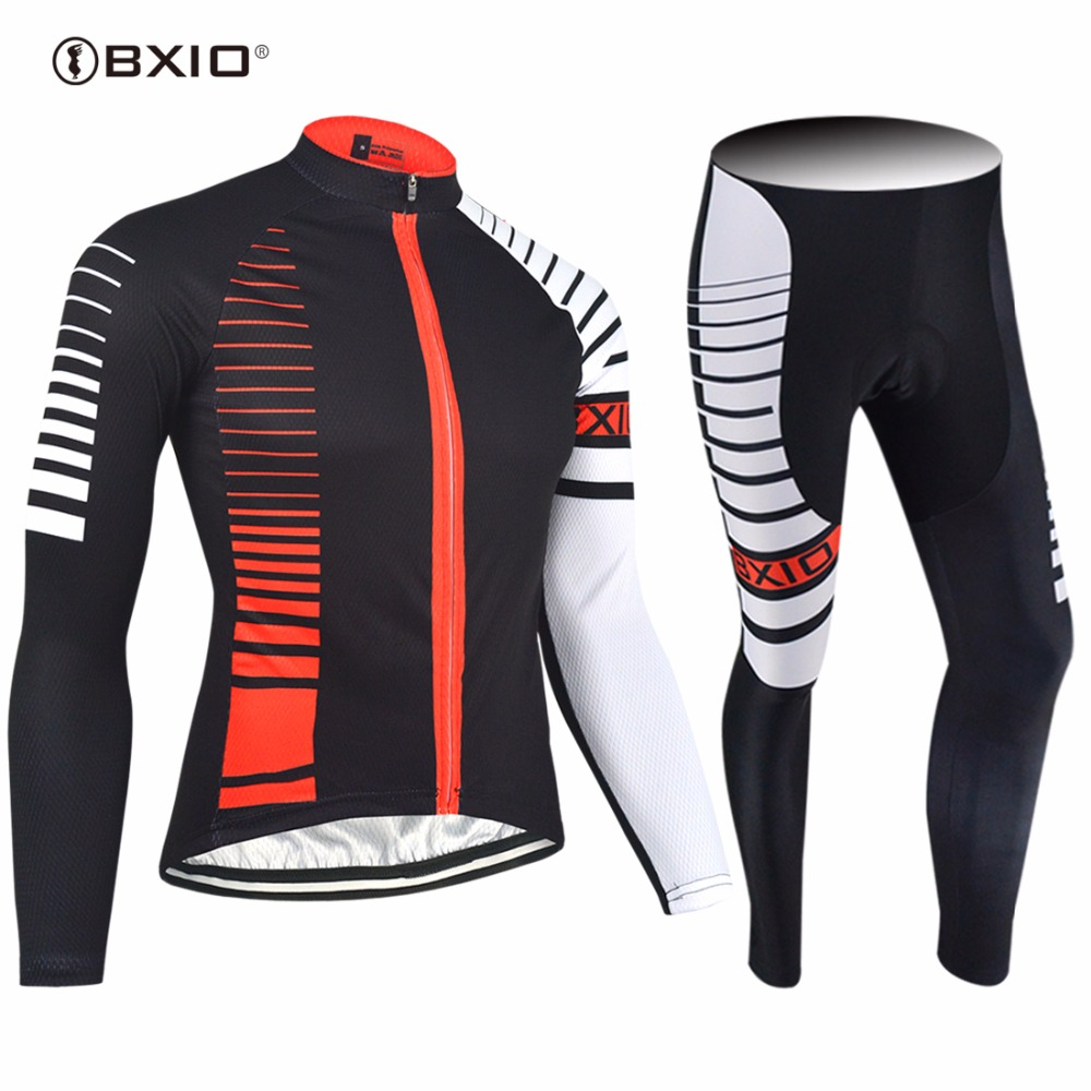 2017 New Arrival BXIO  Ropa Ciclismo Cycling Jerseys Autumn Bicycle Clothes Top Quality Long Sleeve Bike Jersey 098 2017 new pro team cycling jerseys bike clothing ropa ciclismo breathable short sleeve 100