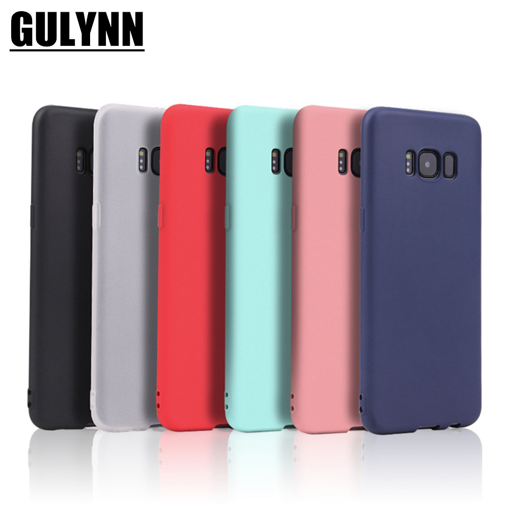 low priced b30a6 18dba Candy Color Silicone Phone Case Cover For Samsung Galaxy A3 5 7 6 8 J4 J6  J8 S9 S9 Plus S8 S8 Note 8 9 Plus Matte Phone Shell