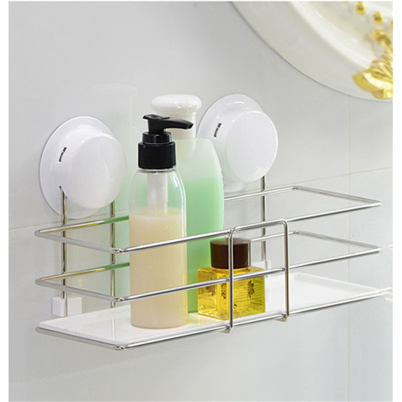 Buy suction bathroom shelf new unique - Bathroom shelves stainless steel ...