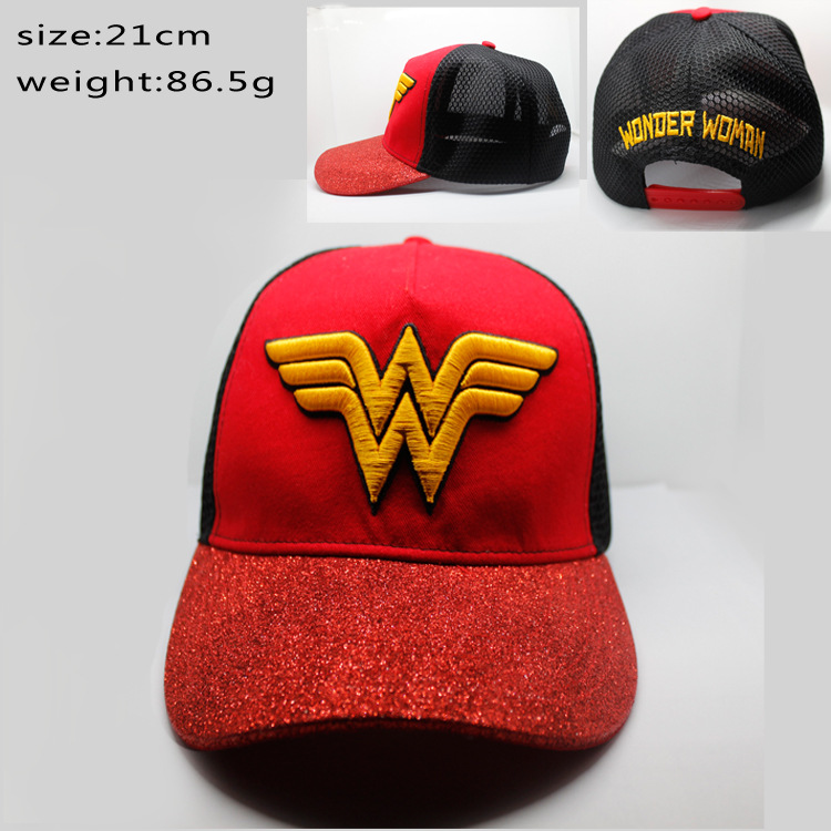 2017 Wonderful woman hat red baseball cap cape hat casual fashion hip hop style rock hat cosplay