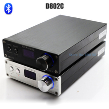 FX-Audio D802C Bluetooth@3.0 Pura Completo Amplificador Digital de Audio de Entrada USB/AUX/Óptico/Coaxial/BT 24Bit/192 KHz 80 W * 2 Pantalla OLED