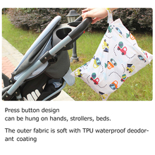 Cute Diper Bag Waterproof Deodorant Mommy Tote Bags Zipper Design Portable Polyester Soft Solid Cartoon Baby car bag organizer