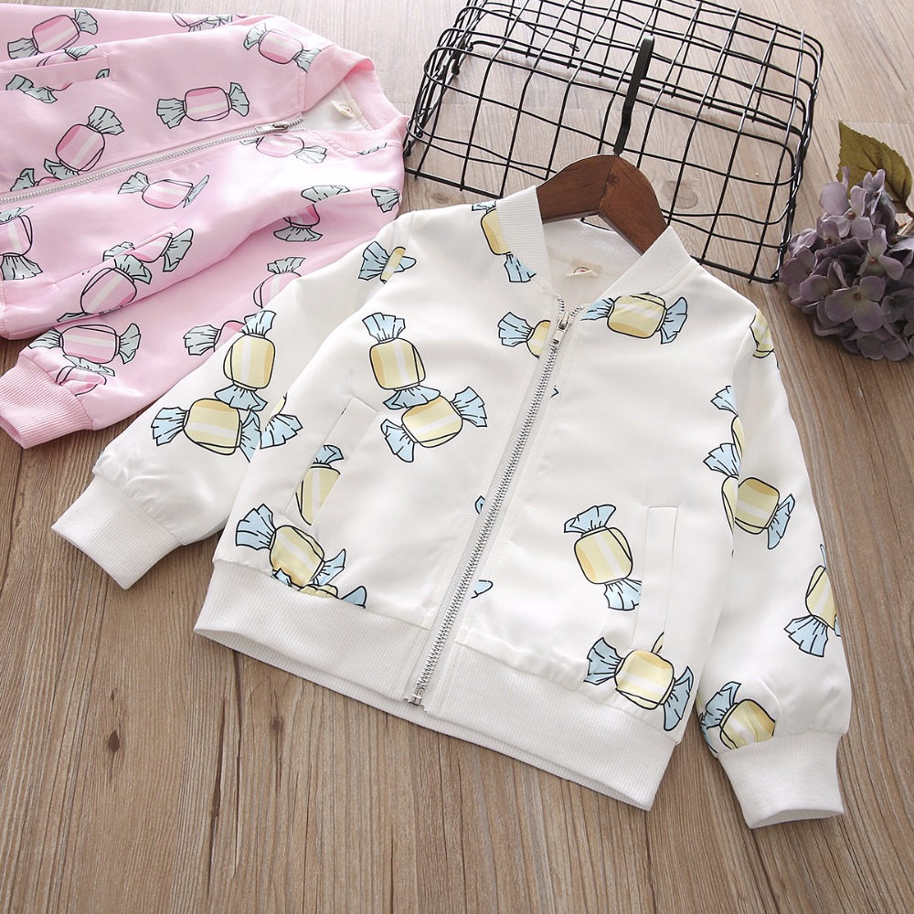 2019 New Spring Item Girl Print Candy Jacket Cute Design