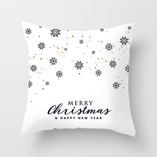 Christmas Cushion Cover Merry Christmas Decoration Pillowcases Santa Claus Polyester Throw Pillow Case Cover kerstmis navidad 3