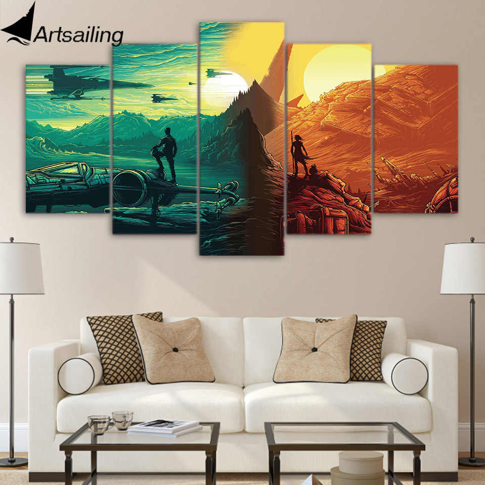 5 Piece Canvas Art HD Print Home Decor animation Warfare Paintings For Living Room Wall Poster Picture Free Shipping UP-2278C