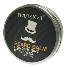 Beard Balm Men Cream Conditioner for Styling Moisturizing Grooming Smoothing Beard Care Products 80g Free Shipping