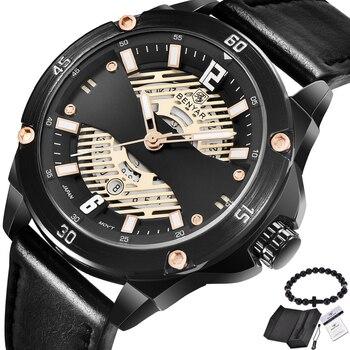 BENYAR Новый Модные мужские наручные часы Аналоговые кварцевые наручные часы водостойкие спортивные Дата Кожаный ремешо